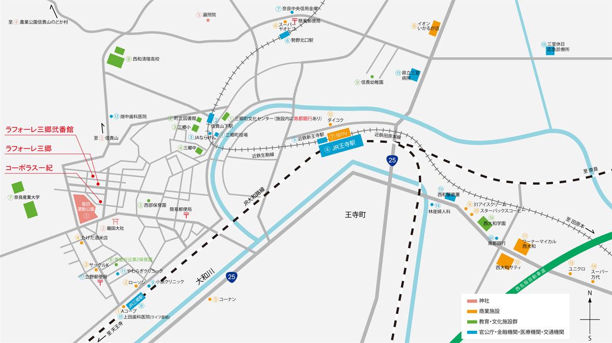... のマンション周辺環境拡大地図 : a4 地図 印刷 : 印刷